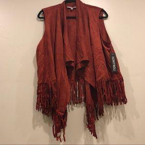 080e63e1ba8 Jackets   Blazers - Kontrol 1X 3X Faux Suede Fringe Vest